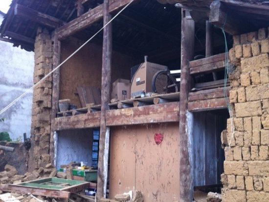 地震中倒塌的房屋
